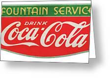 Retro Coke Sign Greeting Card