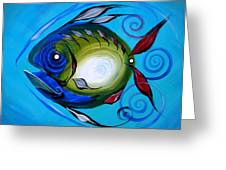 Return Fish Greeting Card