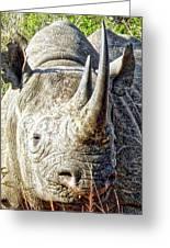 Rhino Zen Greeting Card