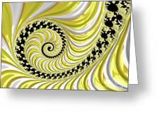 Ribbed Yellow Spiral Greeting Card