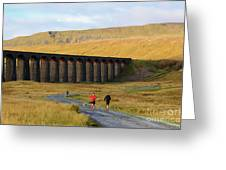 Ribblehead Viaduct In Late Autumn North Yorkshire Greeting Card
