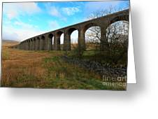 Ribblehead Viaduct On The Settle Carlisle Railway North Yorkshire Greeting Card