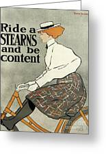 Ride A Stearns And Be Content, Circa 1896 Greeting Card