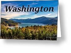 Riffe Lake, Washington Greeting Card