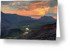 Rio Grande River Sunset Greeting Card