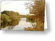 river Teviot at dusk Greeting Card