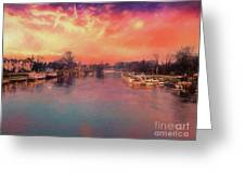 River Thames At Molesey Greeting Card
