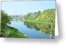river tweed at Coldstream Greeting Card