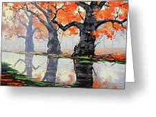 Riverside Trees Greeting Card