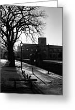 riverside walk in Haddington on winters morning Greeting Card