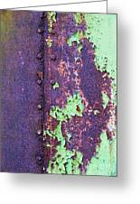 Rivets Rust And Paint Greeting Card