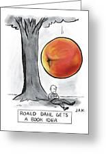 Roald Dahl Gets A Book Idea Greeting Card
