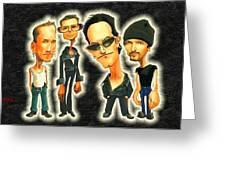 Rock N' Roll Warriors - U2 Greeting Card