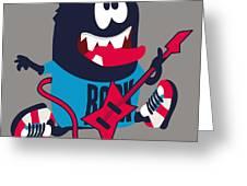Rock, Rocker  Monster Greeting Card