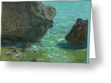 Rocks At Cap Negret Sp Greeting Card