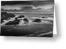Rocks In The Storm Greeting Card