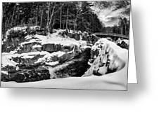 Rocky Gorge Foot Bridge N H Greeting Card