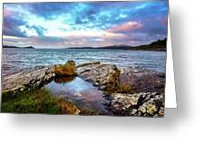 Rocky Pools Of Salty Sea Greeting Card