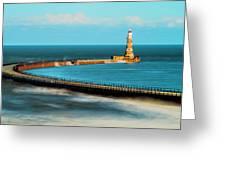 Roker Pier Greeting Card