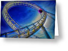 Roller Coaster Ocean City Md Greeting Card by Paul Wear