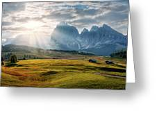 Rolling Hills Of Alpe Di Siusi Greeting Card by Dmytro Korol