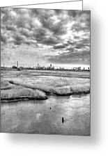 Rolling Into Nyc Black And White Greeting Card