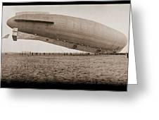 Roma Dirigible At Bolling Field Air Greeting Card