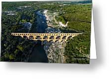 Roman Aqueduct, Pont Du Gard Greeting Card