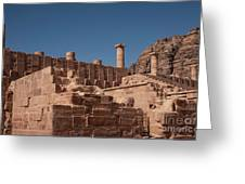 Roman Temple In Petra Greeting Card