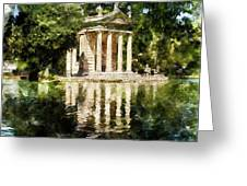 Rome, Ancient Temple Of Aesculapius - 04 Greeting Card