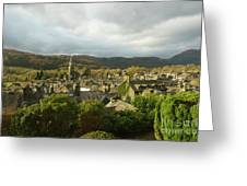 Rooftops Of Ambleside In Early Morning In The Lake District Greeting Card