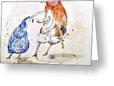 Rooster Butts Greeting Card by Clyde J Kell