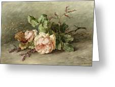 Roses, 19th Century Greeting Card