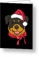 Rotweiler Xmas Hat Dog Pet Lover Christmas Greeting Card