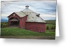 Round Barn - Mansonville, Quebec Greeting Card