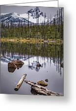 Round Lake Reflection Greeting Card