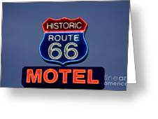 Route 66 Motel Greeting Card