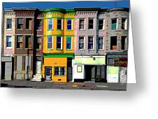 Row Houses Baltimore Greeting Card