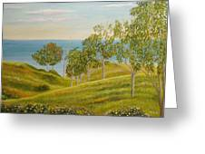 Beachhead Of Eucalyptuses Greeting Card by Angeles M Pomata