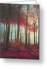 Ruby Red Evening Greeting Card