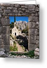 Ruins In Kotor, Montenegro Greeting Card