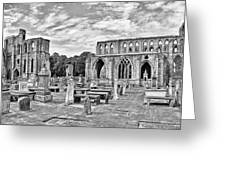 Ruins Of A Cathedral, Elgin Cathedral Greeting Card