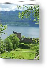 ruins of castle Urquhart on loch Ness Greeting Card