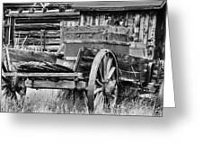 Rustic Horse Drawn Cart Greeting Card