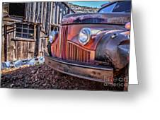 Rusty Old Truck In A Ghost Town In Arizona Greeting Card