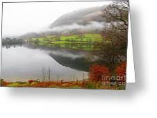 Rydal Water On A Misty Day In December Greeting Card