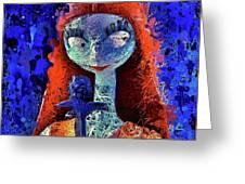 Sally  Greeting Card by Al Matra