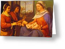 Sacred Conversation 1505 Greeting Card