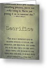 Sacrifice 8722 Greeting Card