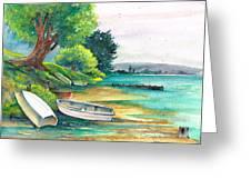 Safe Mooring-whangamata Harbour. Greeting Card